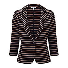 Buy Pure Collection Ravenscourt Stripe Blazer, Black/Camel Online at johnlewis.com