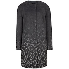Buy Ted Baker Ceceli Exotic Print Cocoon Coat, Black Online at johnlewis.com