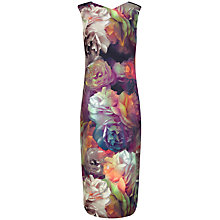 Buy Ted Baker Mayzi Technicolour Bloom Midi Dress, Black Online at johnlewis.com