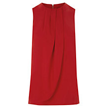 Buy Warehouse Drape Front Top, Bright Red Online at johnlewis.com