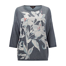 Buy Phase Eight Immy Print Top, Grey Online at johnlewis.com