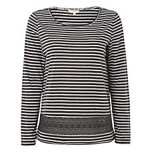 Buy White Stuff Vivian Jersey Top, Stone Grey Online at johnlewis.com
