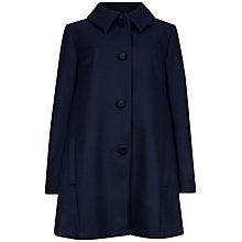 Buy Ted Baker Alay Wool Blend Swing Coat, Navy Online at johnlewis.com