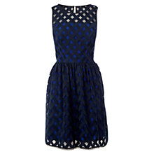 Buy Karen Millen Mesh Full Skirt Dress, Navy Online at johnlewis.com