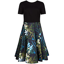 Buy Ted Baker Caprine Twilight Floral Skirt Dress, Black Online at johnlewis.com
