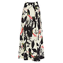 Buy Warehouse Poppy Midi Skirt, Black Online at johnlewis.com