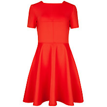 Buy Ted Baker Meddie Skater Dress, Bright Orange Online at johnlewis.com