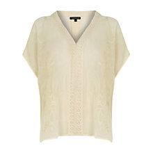 Buy Warehouse Embroidered Kaftan Top, Cream Online at johnlewis.com