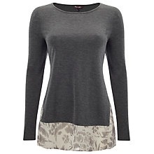 Buy Phase Eight Anita Layer Top, Grey Marl Online at johnlewis.com