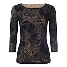 Buy Phase Eight Beata Lace Top, Navy Online at johnlewis.com