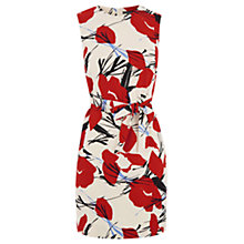 Buy Warehouse Pattern Abstract Dress, Red Pattern Online at johnlewis.com