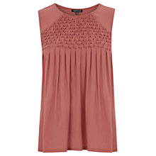 Buy Warehouse Diamond Yoke Shell Top, Orange Online at johnlewis.com