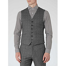 Buy Reiss Bronte Wool Melange Slim Fit Waistcoat, Grey Online at johnlewis.com