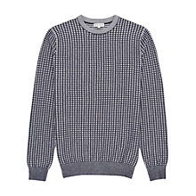 Buy Reiss Foal Contrast Weave Jumper, Navy/Ivory Online at johnlewis.com