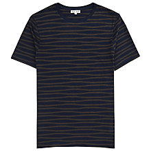 Buy Reiss Snoop Stripe Crew Neck T-Shirt, Navy Online at johnlewis.com