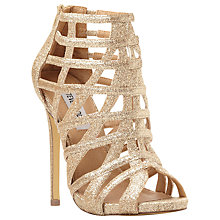 Buy Steve Madden Marquee Caged High Heel Sandal, Gold Online at johnlewis.com