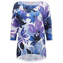 Buy Phase Eight Nola Floral Jumper, Blue/Purple Online at johnlewis.com