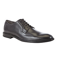 Buy HUGO C-Conors Leather Lace-up Shoes, Black Online at johnlewis.com