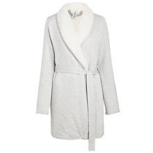 Buy Splendid Sherpa Robe, Light Grey Online at johnlewis.com