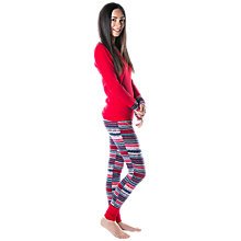 Buy Splendid Cozy Fairisle Pyjama Set, Red Online at johnlewis.com