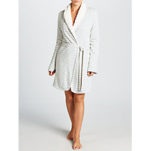 Buy Splendid Sherpa Stripe Robe, Blue Chambray Online at johnlewis.com