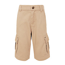 Buy John Lewis Boys' Cargo Shorts, Beige Online at johnlewis.com