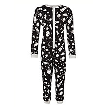 Buy John Lewis Boy Space Print Onesie, Black Online at johnlewis.com