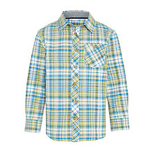 Buy John Lewis Boys' Multi Check Shirt, Green Online at johnlewis.com
