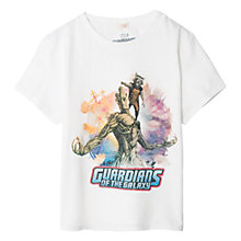 Buy Mango Kids Boys' Marvel Guardians of the Galaxy T-Shirt, White Online at johnlewis.com