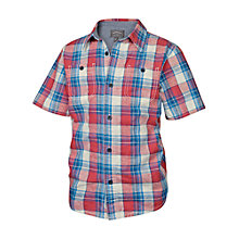 Buy Fat Face Check Short Sleeve Shirt, Red/Blue Online at johnlewis.com