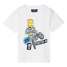 Buy Mango Kids Boys' Bart Simpson T-Shirt, White Online at johnlewis.com