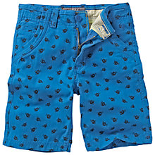 Buy Fat Face Boys' Angler Fish Flat Front Shorts, Cobalt Blue Online at johnlewis.com
