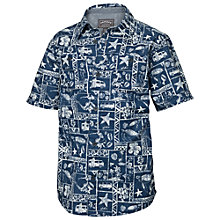 Buy Fat Face Short Sleeve Surf Tile Print Shirt, Navy Online at johnlewis.com
