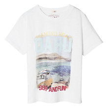 Buy Mango Kids Boys' Surf and Fun City T-Shirt, White Online at johnlewis.com