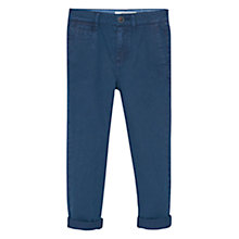 Buy Mango Kids Boys' Straight Fit Cotton Trousers, Indigo Online at johnlewis.com