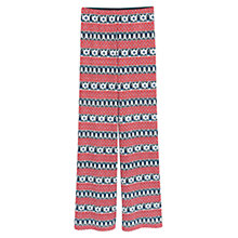 Buy Mango Printed Trousers, Dark Red Online at johnlewis.com