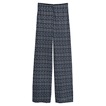 Buy Mango Geometric Printed Trousers, Blue/White Online at johnlewis.com