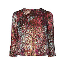 Buy L.K. Bennett Goldino Crop Top, Mulberry Online at johnlewis.com