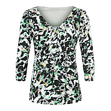 Buy Planet Animal Print Jersey Top, Multi Green Online at johnlewis.com