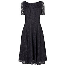 Buy L.K. Bennett Celine Lace Dress, Sloane Blue Online at johnlewis.com