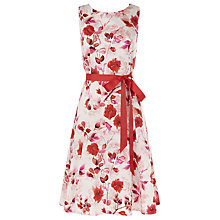 Buy Kaliko Oriental Bloom Dress, Cream/Red Online at johnlewis.com
