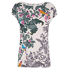 Buy Oasis Rainforest Shadow T-Shirt, Multi Online at johnlewis.com