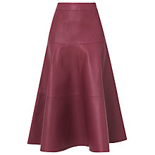 Buy L.K. Bennett Leather Delfine Skirt, Mulberry Online at johnlewis.com