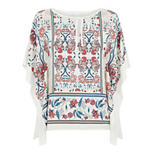 Buy Oasis Tapestry Kimono Woven Top, Multi Online at johnlewis.com