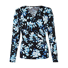 Buy Kaliko Printed Jersey Top, Multi Blue Online at johnlewis.com