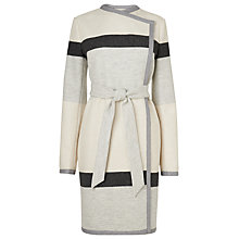 Buy L.K. Bennett Halle Stripe Coat, Black / White Online at johnlewis.com