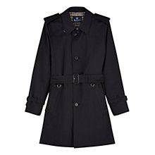 Buy Aquascutum Corby Single Breasted Trench Coat, Navy Online at johnlewis.com