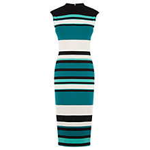 Buy Oasis Photographic Stripe Tube Dress, Multi Online at johnlewis.com