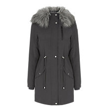 Buy Oasis Laura Parka, Mid Grey Online at johnlewis.com