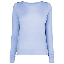 Buy L.K. Bennett Hebe Wool Jumper, Arctic Blue Online at johnlewis.com